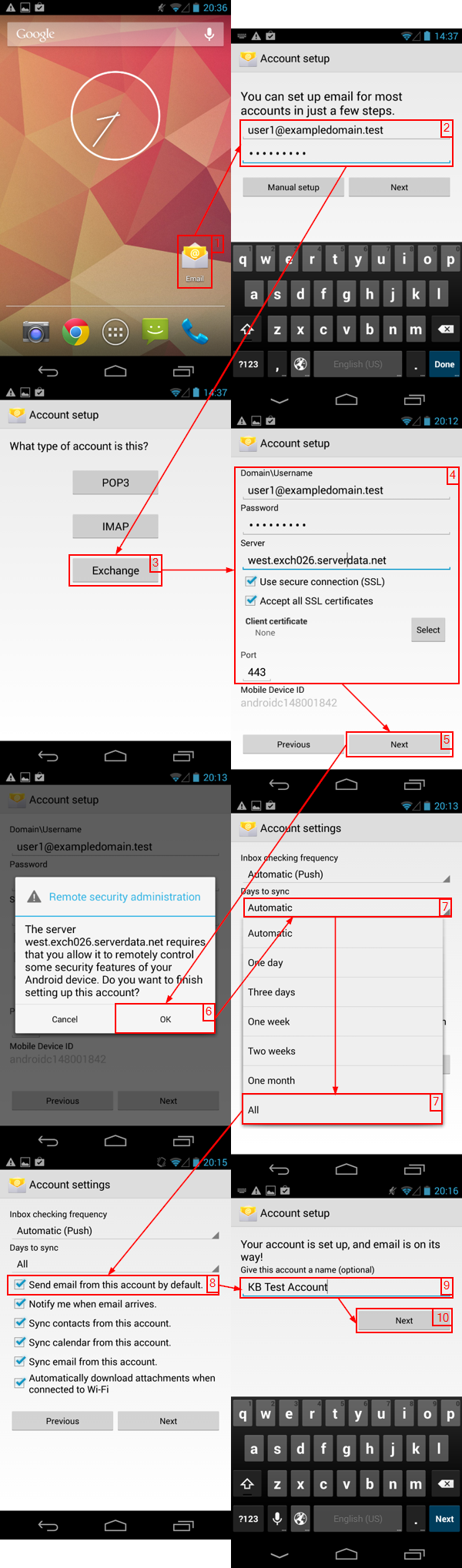 Setting Up ActiveSync On Google Nexus